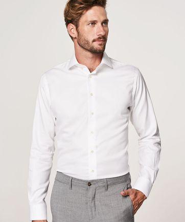 Profuomo Sky Blue Travel Shirt Weiß