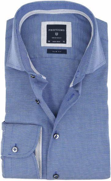 Profuomo Slim Fit Hemd Blau Non Iron