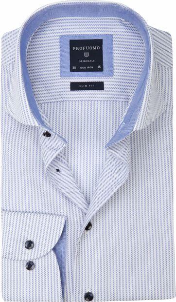 Profuomo Slim-Fit Overhemd Blauw