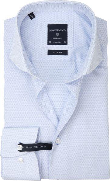 Profuomo Slim-Fit Overhemd Blauw SL7