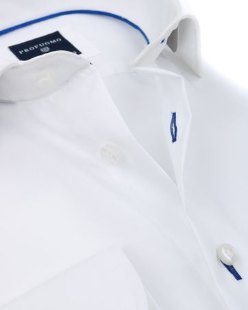 Detail Profuomo Slim Fit Overhemd Wit Non Iron