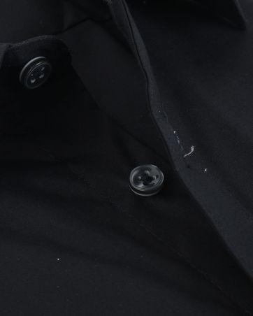 Detail Profuomo Strijkvrij Overhemd Zwart