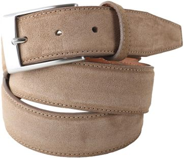 Profuomo Suede Belt Taupe
