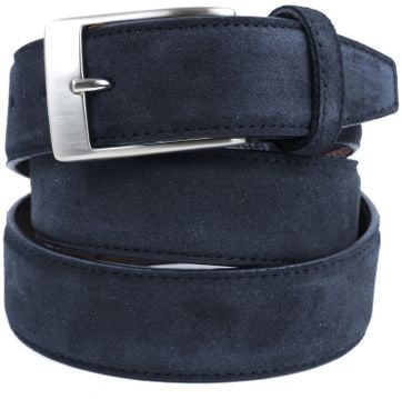 Profuomo Suede Dark blue Belt