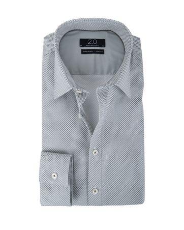 Profuomo Super Slim Fit Overhemd Grijs