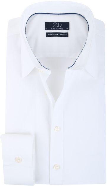 Overhemd Zwart Slim Fit.Profuomo Super Slim Fit Overhemd Wit Pp0h0d001