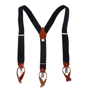 Profuomo Suspenders Dark Blue