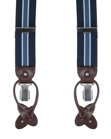 Profuomo Suspenders Navy-Lightblue
