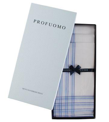 Profuomo Taschentücher Set 3 Stück Blau