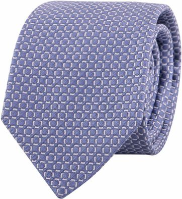 Profuomo Tie Checkered Blue