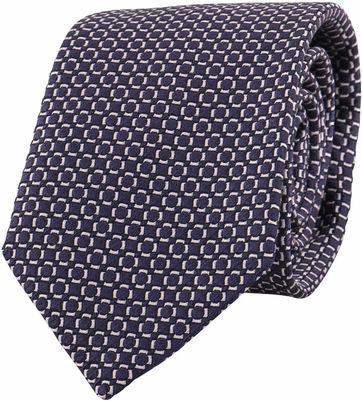 Profuomo Tie Checkered Navy