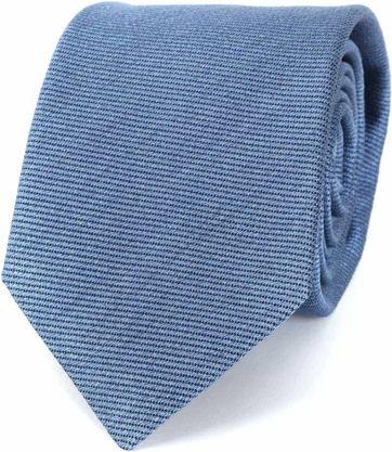 Profuomo Tie Tussah Silk Blue