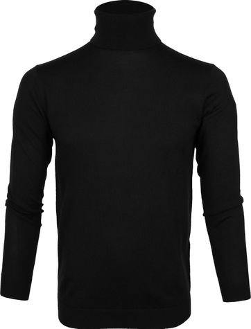 Profuomo Turtleneck Pullover Black