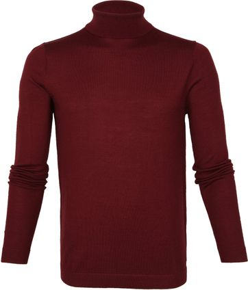 Profuomo Turtleneck Pullover Bordeaux