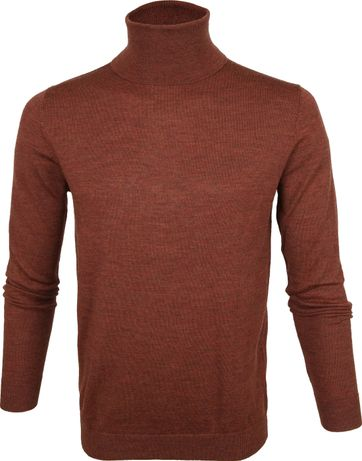 Profuomo Turtleneck Pullover Brown