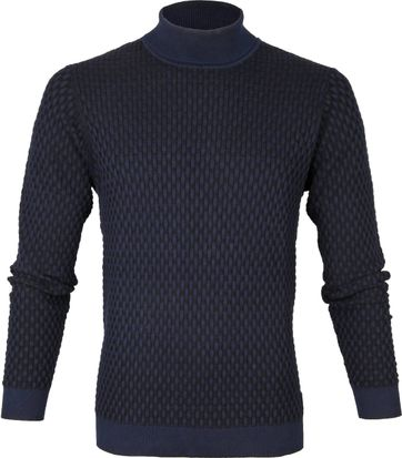 Profuomo Turtleneck Pullover Navy