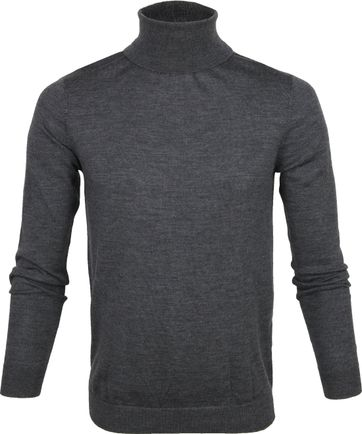 Profuomo Turtleneckt Pullover Anthraciet