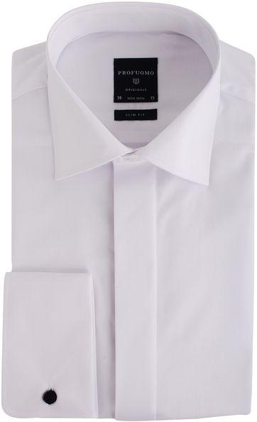 Profuomo Tuxedo Shirt Slim Fit White