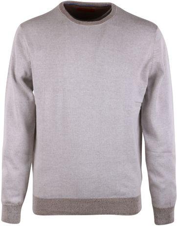Pullover O-Hals Beige