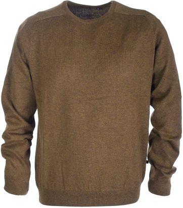 Pullover Round Neck Cotton Brown