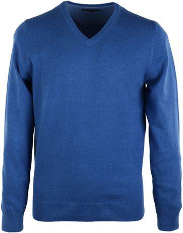 Pullover V-Hals Blau