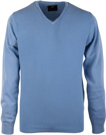 Pullover Washed Grain Light Blue