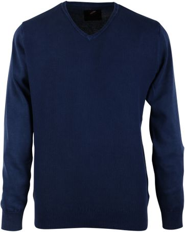 Pullover Washed Grain Navy