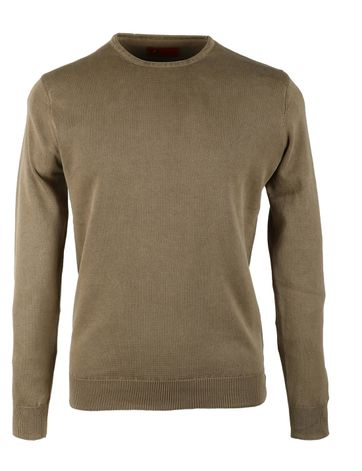 Pullover Washed Ribs Khaki