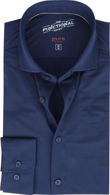 Pure Functional Hemd Donkerblauw