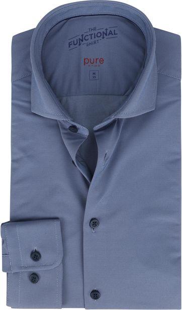 Pure Functional Overhemd Blauw