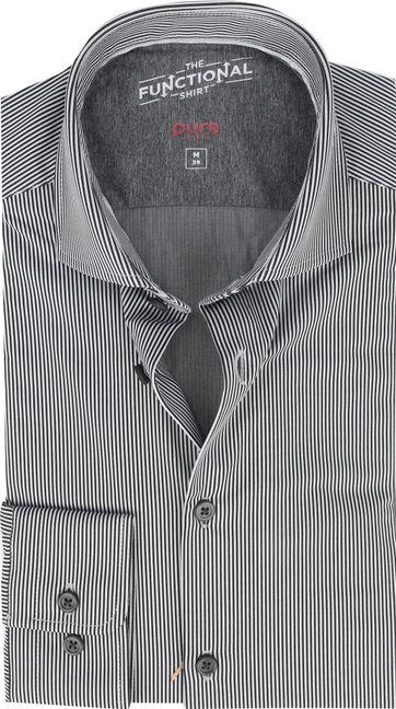 Pure Functional Shirt Streifen Schwarz