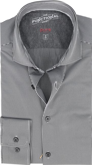 Pure Functional Shirt Stripes Black