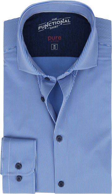 Pure Functional Shirt Stripes Blue