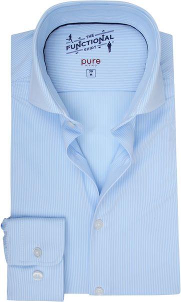 Pure H.Tico The Functional Shirt Streifen Blau
