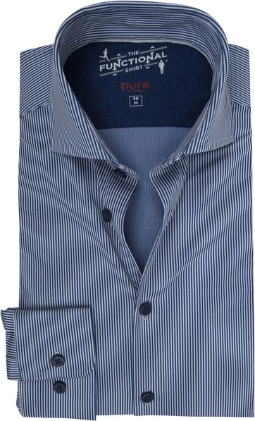 Pure H.Tico The Functional Shirt Streifen Dunkelblau