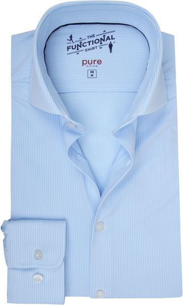 Pure H.Tico The Functional Shirt Strepen Blauw