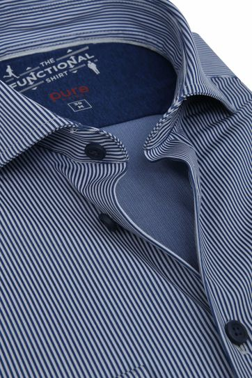 Pure H.Tico The Functional Shirt Strepen Navy