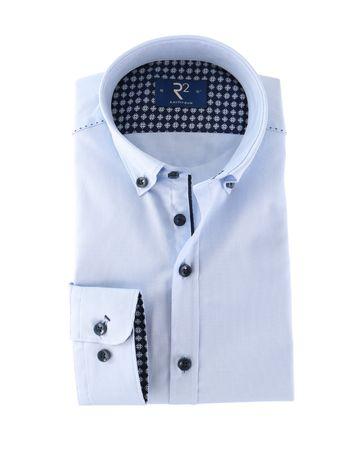 R2 Hemd Blau Button Down