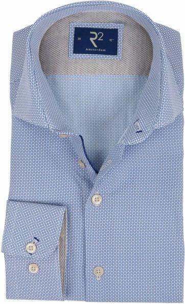 R2 Hemd Blau Muster