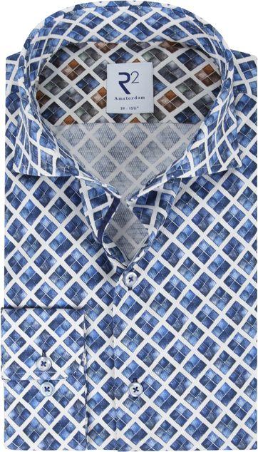 R2 Hemd Blau Raute