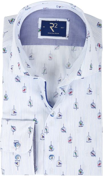 R2 Hemd Blau Vogelkäfig