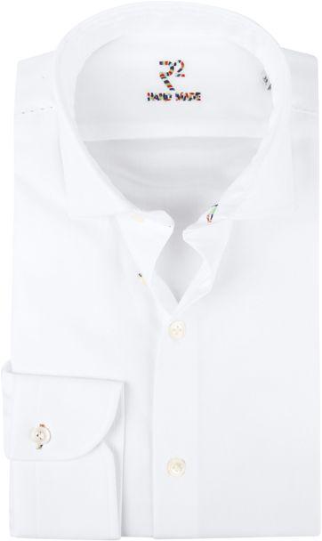 R2 Hemd Uni Handgemachtes Weiß