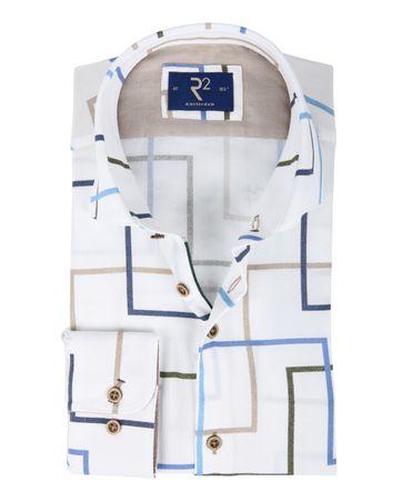 R2 Hemd Weiß Linien