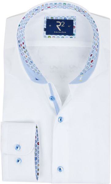 R2 Hemd Weiß Oxford