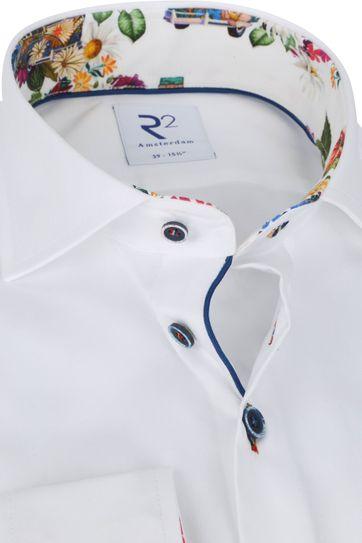 R2 Hemd Weiß Blumen Multicolour