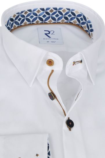 R2 Hemd Weiß Muster