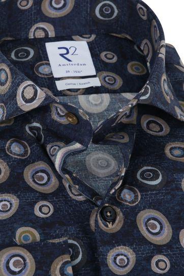 R2 Overhemd Blau Spotts