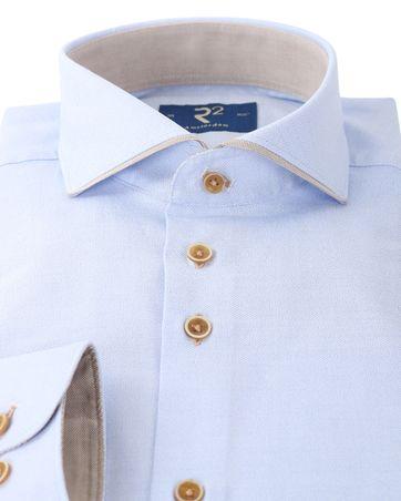 Detail R2 Overhemd Blauw Cutaway