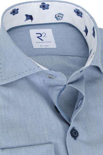 R2 Overhemd Blauw Effen