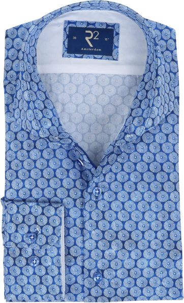 R2 Overhemd Blauw Parasols
